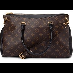 Louis Vuitton Tote Pallas Full Monogram Noir Black
